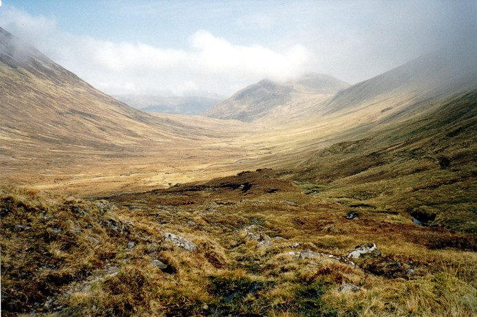 Down the glen from Loch Mhoicean - An Cruachan centre