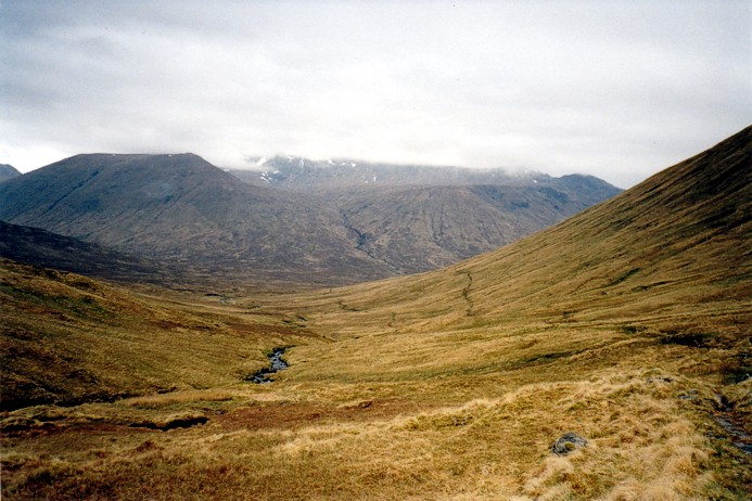 Sgurr nan Ceathreambhan from the watershed