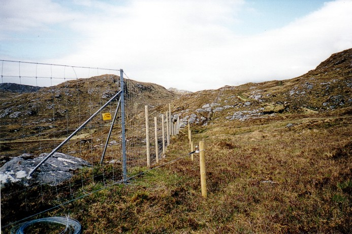 Electric Fence above Strath Stack