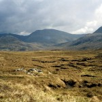 Looking back S.E. from Loch Calavie, An Cruachan centre